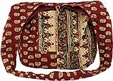 Guru-Shop Sadhu Bag, Umhängetasche, Blockdruck Hippie Schultertasche - Rot/paisley, Herren/Damen,...