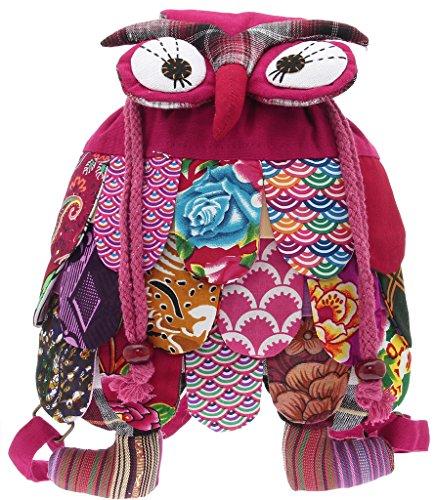 La vogue Mochila/Bolsos Escolares Para Niños Bebés-Nacional Wind-Diseño Búho #8 Multicolor