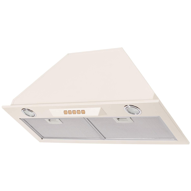 Extractor de humos, recirculación, salida de aire, iluminación LED, aspiración de bordes, 3 niveles de motor, máx. 650 m3h/nivel de ruido 42 db. beige: Amazon.es: Grandes electrodomésticos