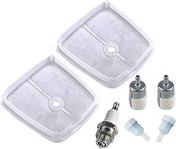 Hipa 13031043130 Air Filter with Fuel Filter/Vent Spark Plug for Echo Echo SRM3800 SRM4600 SRM4605 SRM4605U Trimmer Weed Eater