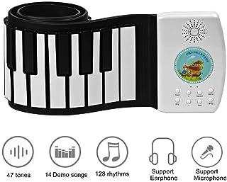 49キーピアノキーボード子供ポータブルソフトHandscrollコントローラーシンセサイザーロールアップピアノキッズ電子楽器