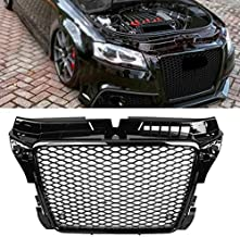 BEESCLOVER Hex Mesh Honeycomb Grill for RS3 Style Front Sport Hex Mesh Honeycomb Hood Grill Gloss Black for Audi A3/S3 8P 2009-2012 Australia One Size