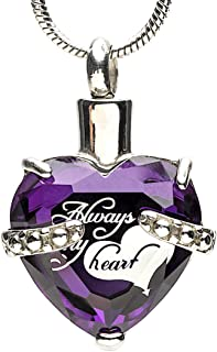 Eternal Harmony Heart Cremation Jewelry Urn for Ashes | Elegant Keepsake Urn Necklace with Stainless Steel Chain, Fill Kit and Beautiful Velvet Box | to Honor and Remember Your Loved One