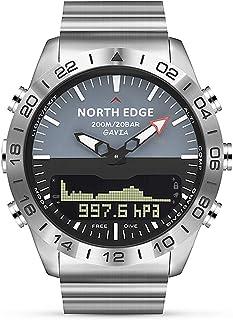 Walory Reloj Analógico Digital - Reloj Deportivo de Buceo para Hombre Reloj de Pulsera de Negocios de Acero Completo Altím...