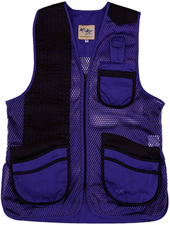 Peregrine, MizMac Womens Mesh Vest, Genuine Leather Pad, Purple, Right Hand, Medium
