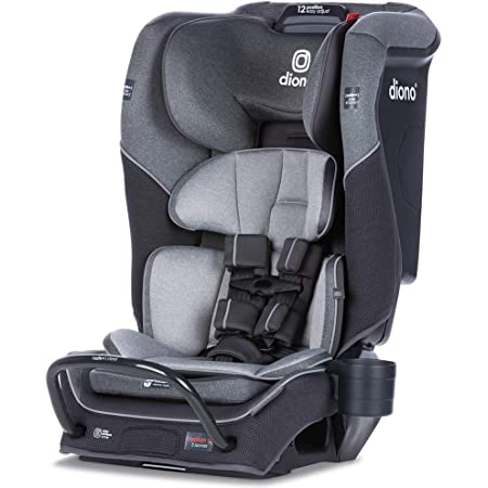 Diono Radian 3QX 4-in-1 Rear & Forward Facing Convertible Car Seat   Safe+ Engineering 3 Stage Infant Protection, 10 Years 1 Car Seat, Ultimate Protection   Slim Design - Fits 3 Across, Gray Slate
