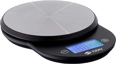 CDN SD1104-W ProAccurate Digital Kitchen Scale, 11 lb 11 lb Black