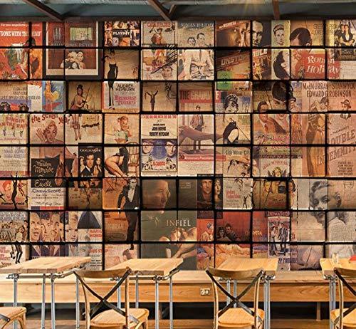 Grote aangepaste retro nostalgische houten muur film poster tv woonkamer slaapkamer huis meubels 200×150cm