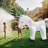 Fun Floats Giant Inflatable Unicorn Sprinkler Unicorn Water Toys for Summer Yard and Outdoor Play Kids and Adults Summer Party Favorite