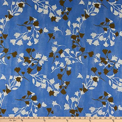 Cloud 9 Organic Lush Batiste Drift Blue/White Fabric by the Yard