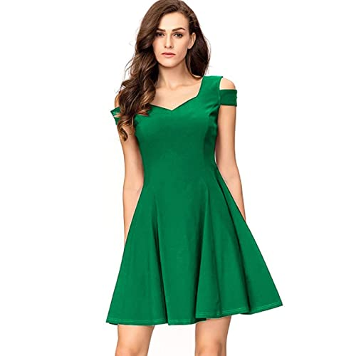 2a851044c630 InsNova Women s Cold Shoulder Little Cocktail Party A-line Skater Dress