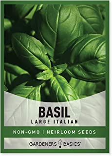 Basil Seeds for Planting (Large Leaf) Heirloom Non-GMO Herb Plant Seeds for Home Herb Garden Indoors, Outdoors, and Hydrop...