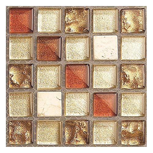 HIAME fliesenaufkleber Badezimmer küche,Mosaik dekorative Aufkleber 20 Stück,Mosaic Tile Decals,Fliesenaufkleber Selbstklebende Klebefolie 3D,3D Wandaufkleber Mosaikfliesen Aufkleber (5)