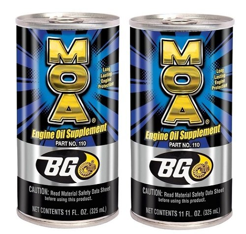 2 - Pack Bg MOA Motor Oil Additive (2) 11oz. Cans