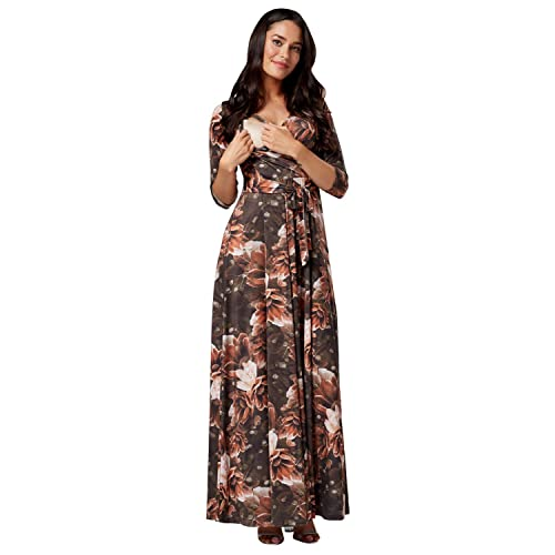 0fd0e7bae5 HAPPY MAMA. Women s Maternity Nursing Maxi Dress 3 4 Sleeves Double Layered  608p