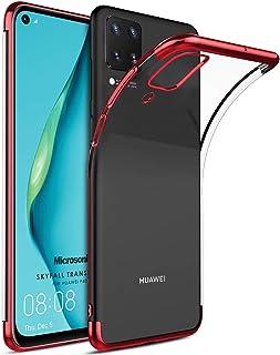 Microsonic Huawei P40 Lite Kılıf Skyfall Transparent Clear Kırmızı