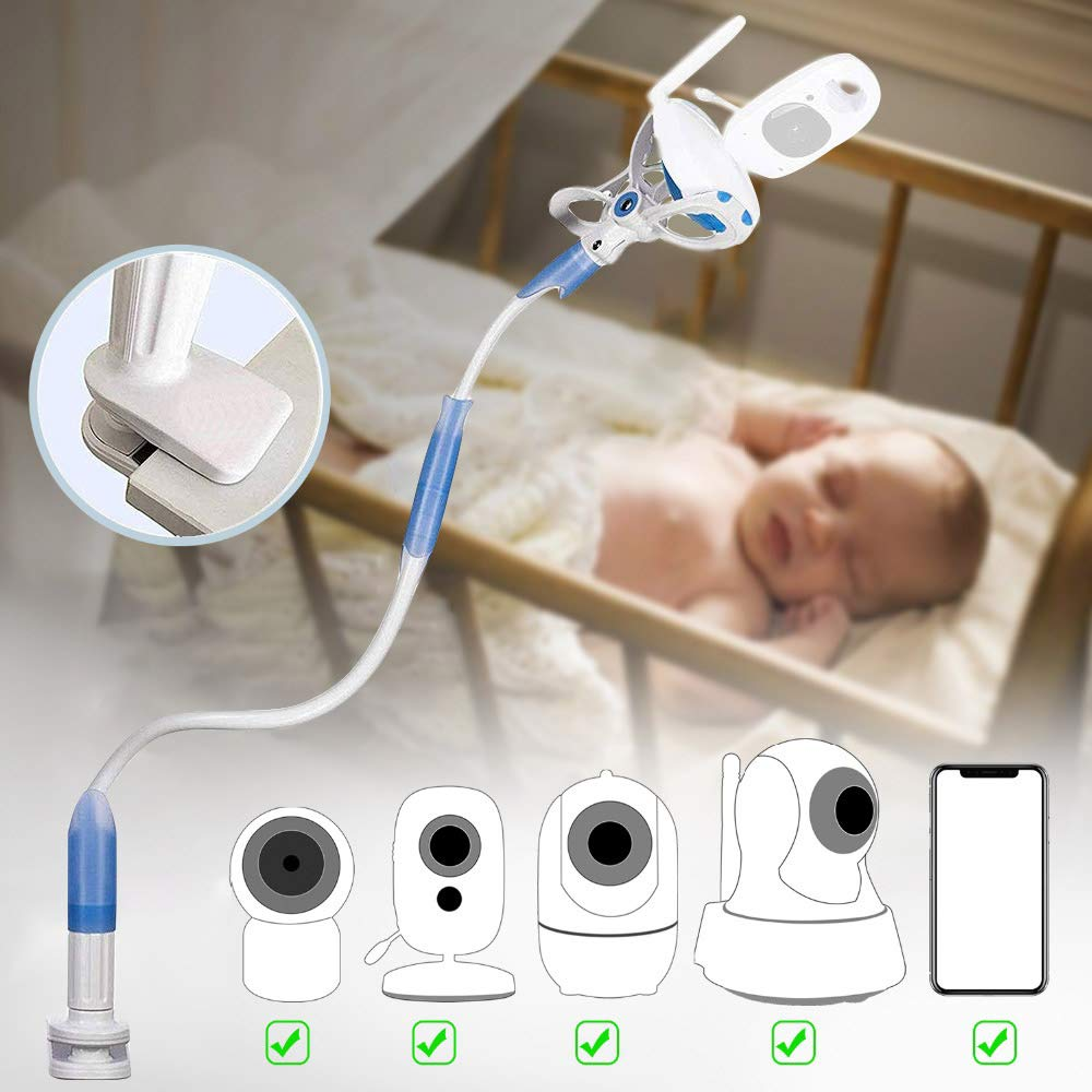 ElevenII Universal Baby Monitor Holder Aluminum Alloy Flexible Camera Stand for Nursery Universal Holder Compatible with Phone /& Most Baby Monitors