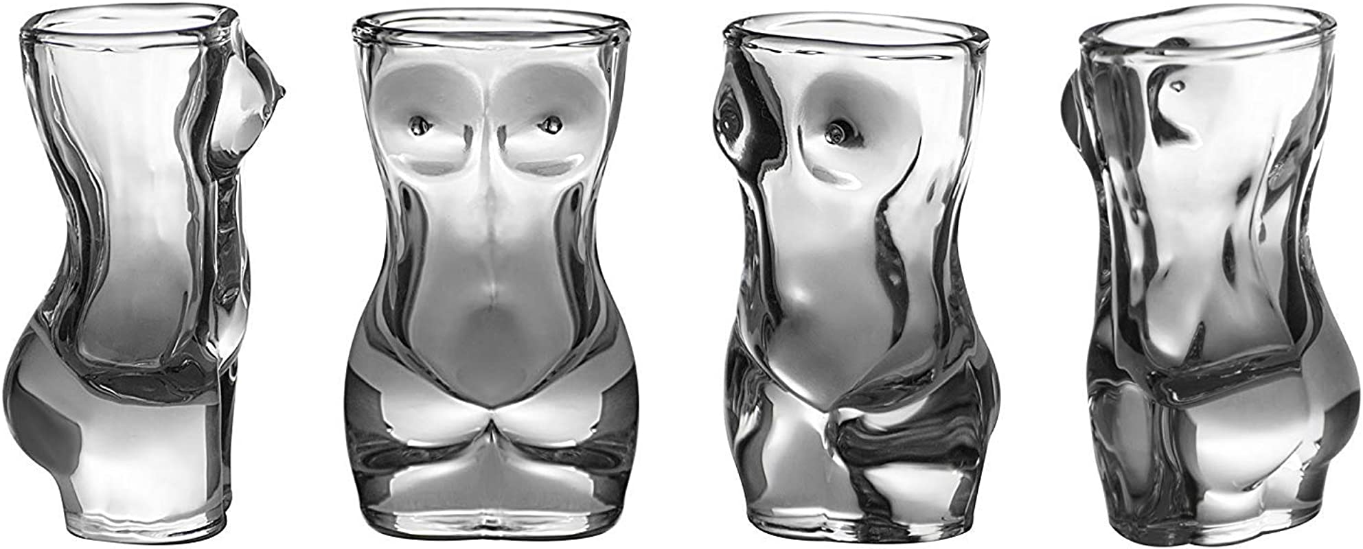 Shot Glass Set 4 Piece Set Crystal Men Women Shaped Custom Design Bachelor Or Bachelorette Party Drinks Tequila Vodka By Dopecha Clear F
