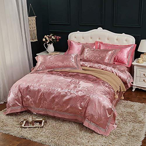 Sängkläder Set King Size Lila, 4-delars lakensats Set påslakan King Size sängkläder Set Bomull Dubbel dubbelsäng King size säng påslakan Satin Jacquard påslakan Set decoration