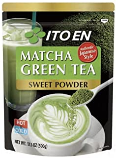 Ito En Matcha Green Tea, Sweet Powder, 17.5 Ounce (Pack of 1), Sweetened Green Tea Powder