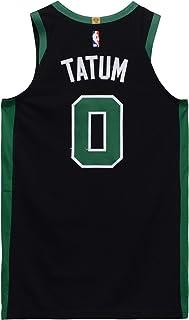 fb6000135 Jayson Tatum Boston Celtics Game-Used  0 Black Jersey vs. Minnesota  Timberwolves on