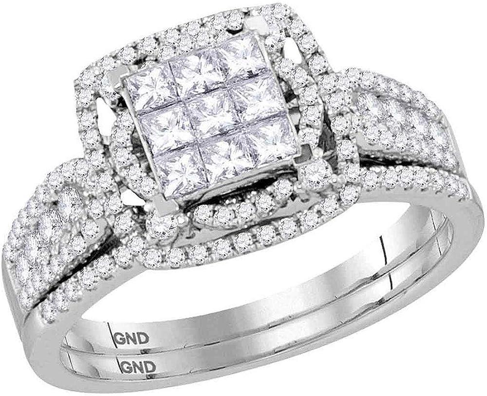 Dazzlingrock At the price Collection 14kt White Princess Gold Bridal Diamond Finally resale start