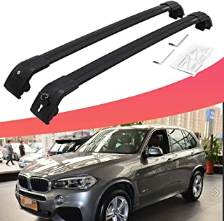SnailAuto Adjustable Cross Bars Baggage Carrier Locking Roof Rack Fits for All New BMW X5 G05 2019
