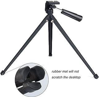 Tabletop Tripod with Mount Adapter Portable Compact Tripod Folded Tripod for Spotting Scopes DLSR Camera Monocular Binocular Medium-Sized Telescopes