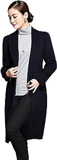 豆鱼之吻 欧美高端纯手工双面羊绒大衣秋冬新款修身长款羊毛呢外套女风衣 15DY05