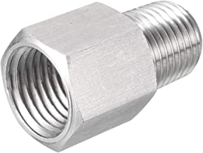 uxcell Reducing Pipe Fitting Reducer Adapter 1/4-inch NPT Male x M14 Female