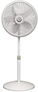 Lasko 1820 18″ Elegance & Performance Adjustable Pedestal Fan, White –..