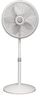 Lasko 1820 18″ Elegance & Performance Adjustable Pedestal Fan, White - Features Oscillating Movement Tilt-back Fan Head