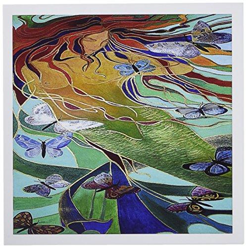 3dRose Mythology Mermaid - Greeting Cards, 6 x 6 inches, set of 6 (gc_18281_1)