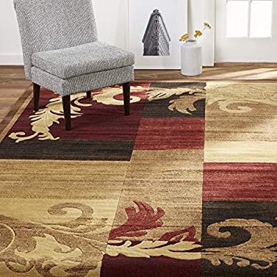 "Home Dynamix Catalina Pierre Contemporary Modern Area Rug 7'10""x10'2"" Geometric Brown Red Beige"