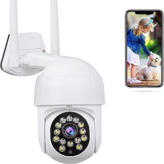 TRIXTER Cámara De Seguridad Exterior WiFi Inalambrica HD 1080P, Mini Cámara de Vigilancia Impermeable IP66, Cámara Domo IR...