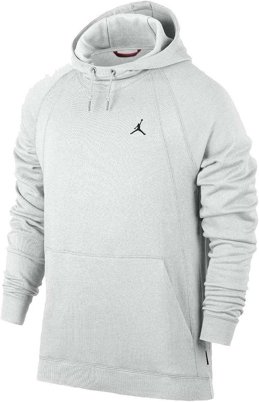 Nike Mens WINGS FLEECE PO, SUMMIT WHITE BLACK, 2XL