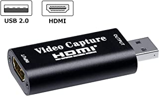 DATACE Mini USB2.0対応 HDMIキャプチャーボード ビデオキャプチャー ゲーム実況生配信・画面共有・録画・ライブ会議用 UVC(USB Video Class)規格準拠 1080p30Hz対応【DA757】