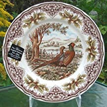 Set of 4, Salad Plates The Victorian English Pottery Woodland Pheasant Thanksgiving Harvest Multi-Color