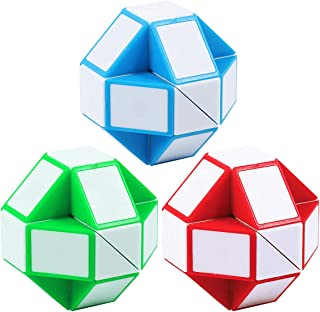 Annomor Sensory Fidget Snake Cube Twist Puzzles Toys Collection Brain Teaser Stocking Stuffers for Party Favors Game Goodi...