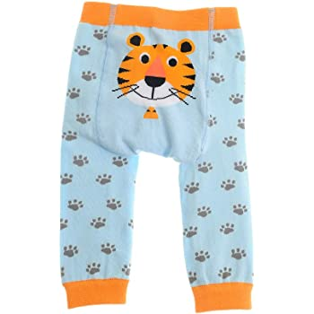 Knitted Baby Leggings with Character Bottoms, Marley Monkey