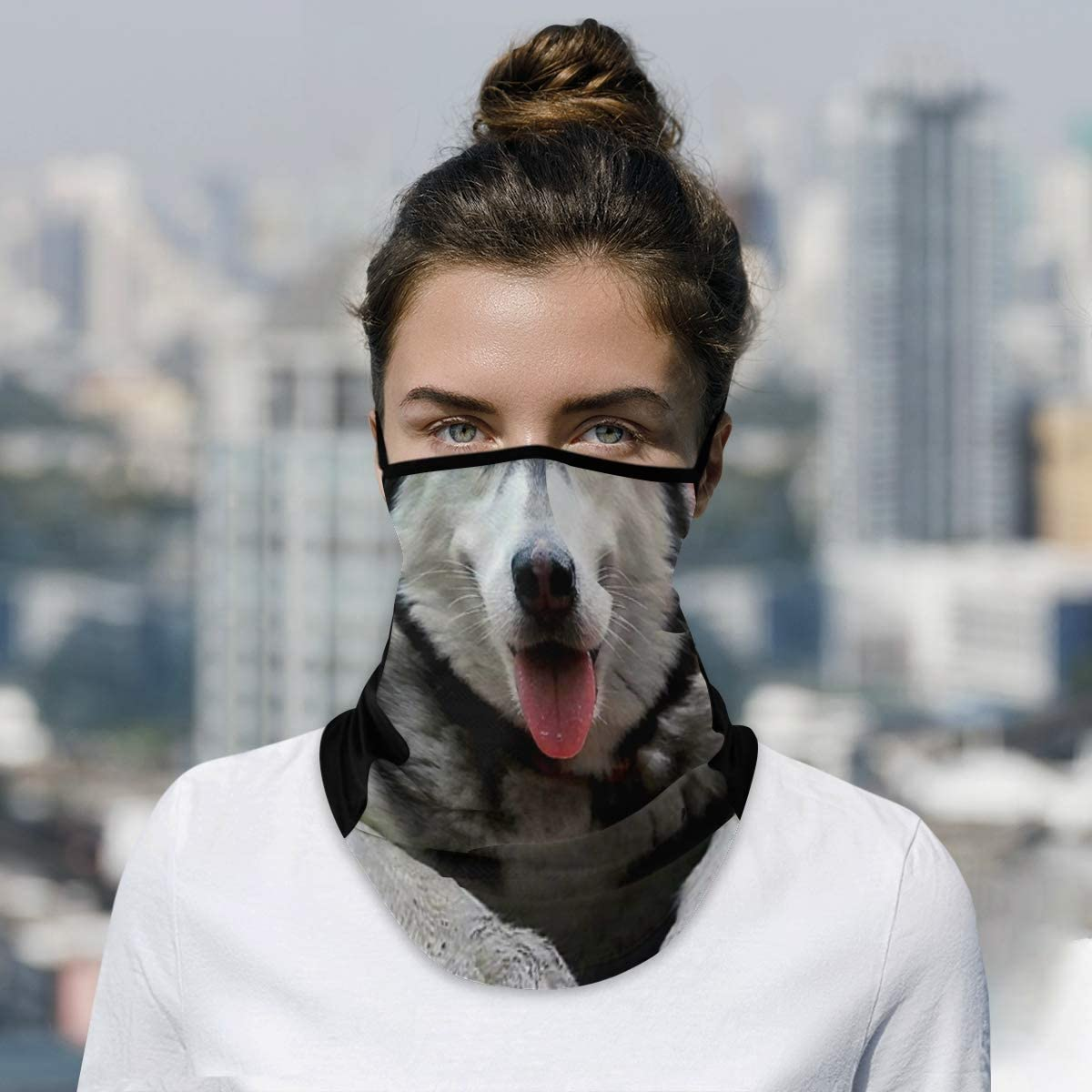 DAOXIANG Max 51% OFF Animal Husky Neck Import Gaiter Reusable Cloth Mask Face