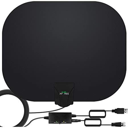 Mata1 HD Digital TV Antenna 50-75 Miles Long Range Signal Reception; Low Noise Amplifier to Boost Signal is Included; Supports All TV formats; 4K 1080p and More a USA Company