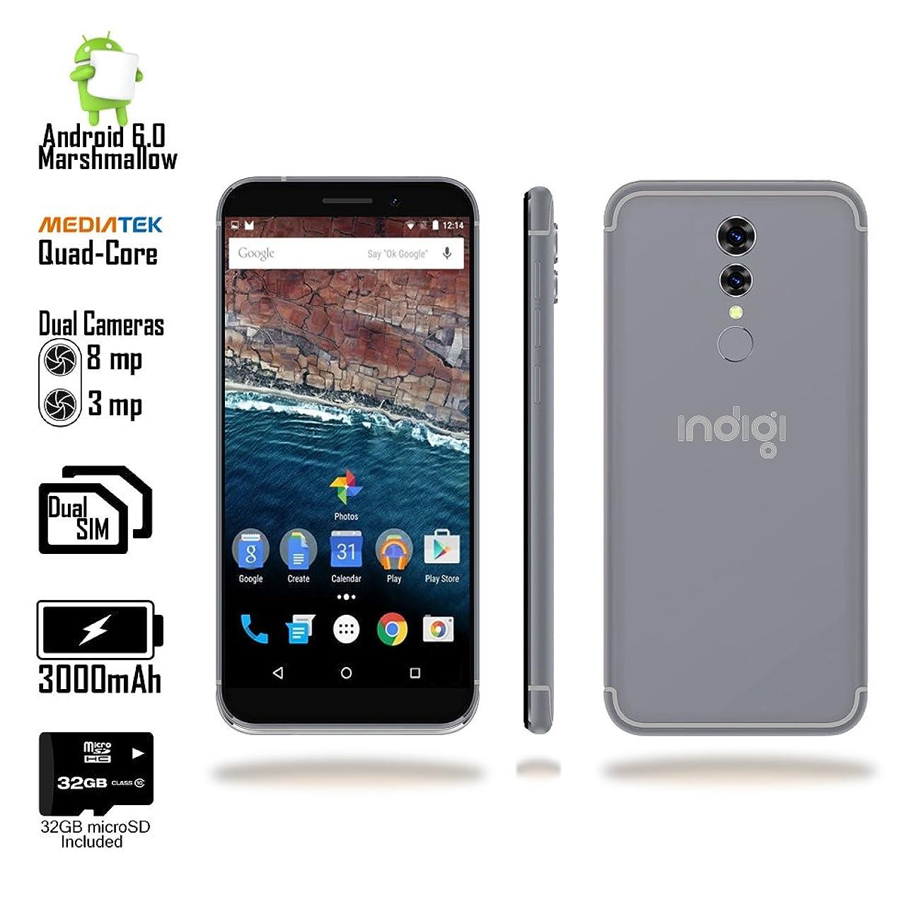 5.6-inch Android Marshmallow SmartPhone (4G LTE GSM Unlocked + QuadCore CPU @ 1.3GHz + 1GB RAM & Fingerprint unlock) Black + 32gb microSD
