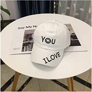 Hats Sunscreen Couple Hat Spring Male Lady Outdoor Baseball Cap Fashion (Color : White, Size : F)
