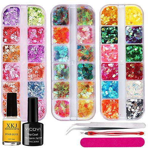 Nail Art Glitter Sequin Set