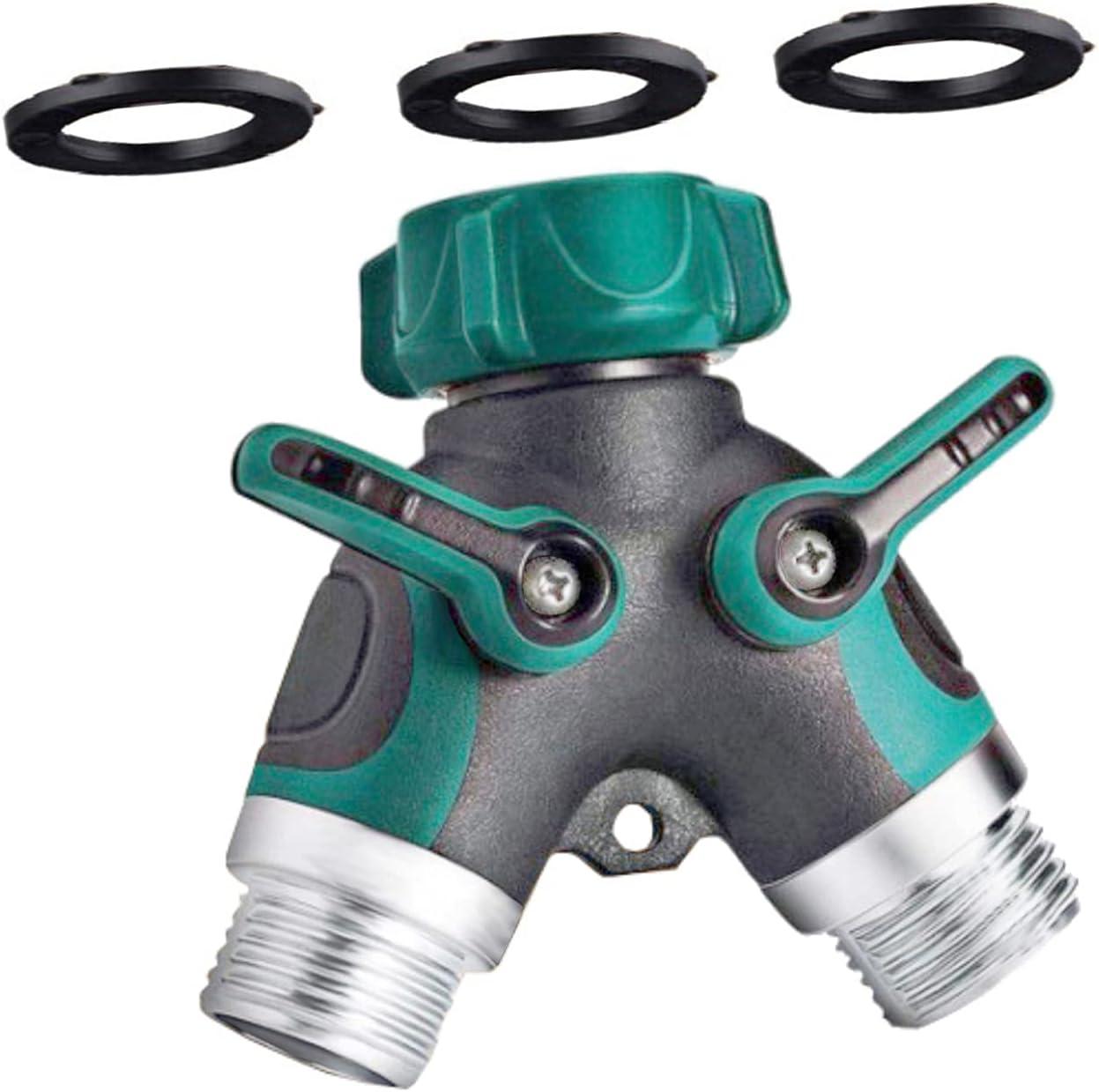 DOLANDE 2 Way Water Splitter, Garden Y Hose Connector, 3/4