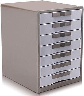 Module de rangement Armoires Classeur Vertical 7 tiroirs Bureau de Rangement en Plastique Armoire de Rangement -30 * 35 * ...