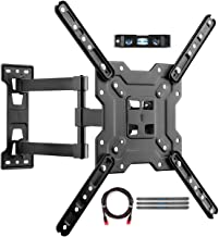 Suptek Adjustable TV Wall Mount, Swivel and Tilt TV Arm Bracket for Most 23-55 inch LED, LCD Monitor and Plasma TVs up to 55lbs VESA up to 400x400mm (A1+)