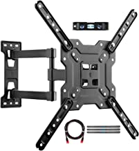 suptek Adjustable TV Wall Mount, Swivel and Tilt TV Arm Bracket for Most 23-55 inch LED, LCD Monitor and Plasma TVs up to 100lbs VESA up to 400x400mm (A1+)