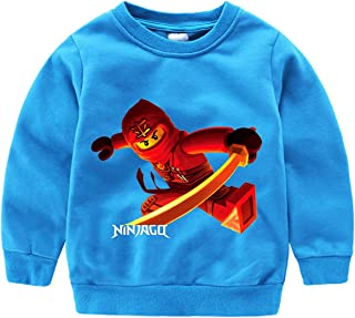 GD-SportBX Toddler Boys Ninjago Sweatshirt Casual Pullover T-Shirt for Kids